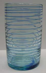 Mexican Blown Glass - Blue Striped Glass
