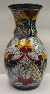 Mexican Talavera - Tall Flower Vase