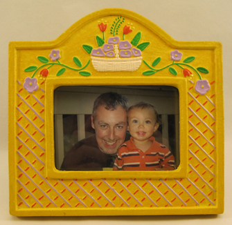 Mexican Ceramic Hand Painted Picture Frames