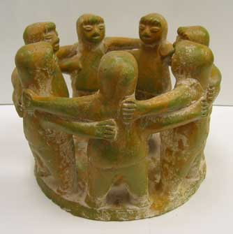 "Mexican Terra Cotta  ""Circle of Friends"""