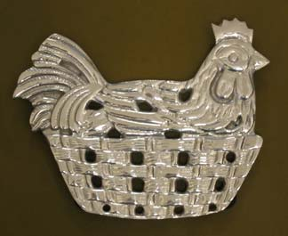 Mexican Pewter - Chicken Trivet