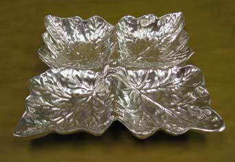 Mexican Pewter - Four Leaf Snack Tray