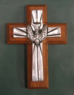 Mexican Pewter - Holy Spirit Cross
