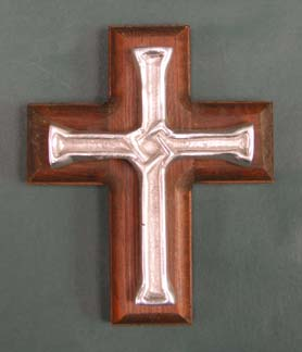 Mexican Pewter - Interlaced Cross