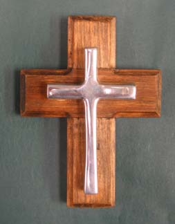 Mexican Pewter - Small Keepsake Cross