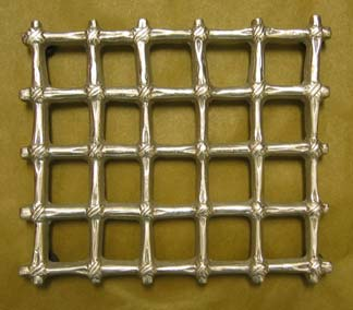 "Mexican Pewter ""Grate"" Trivet - Large"