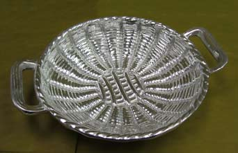 Mexican Pewter - Large Mimbre Basket