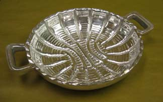 Mexican Pewter - Small Mimbre Basket