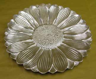 Mexican Pewter - Sunflower Tray