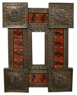Mexican Kokopelli Tile Mirror