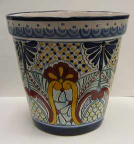 Mexican Talavera - Large Flower Pot