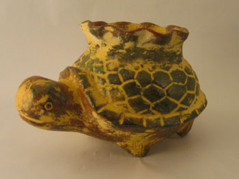 Mexican Terra Cotta Turtle Planter